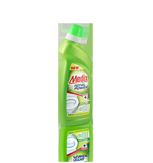 MEDIX WC GEL TOTAL POWER Apple & Mint - Ябълка и Мента (светлозелен)