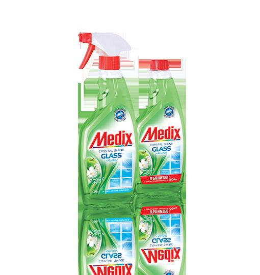 MEDIX GLASS Freesia & Apple - Фрезия и Ябълка - с помпа (зелен), пълнител