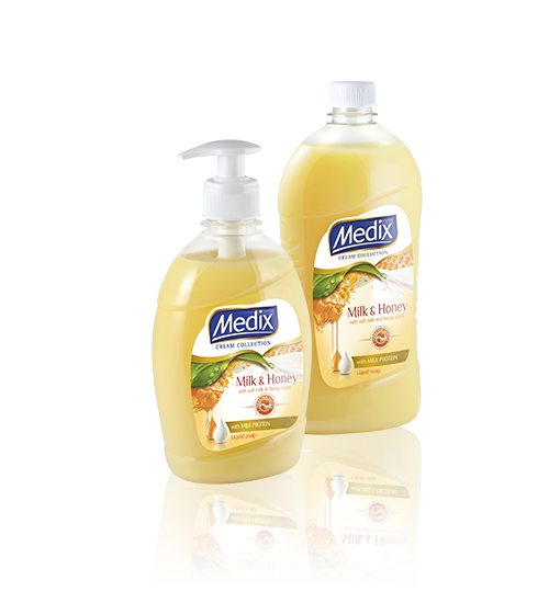 MEDIX CREAM COLLECTION Milk & Honey - с помпа (жълт), резерва