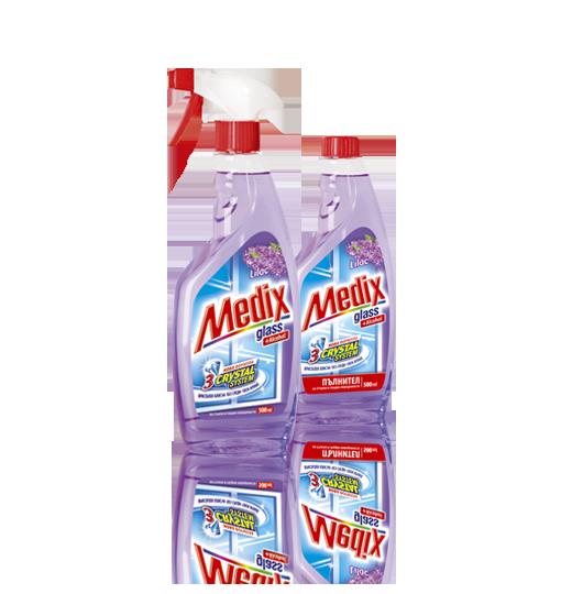 MEDIX GLASS Lilac - Люляк - с помпа (виолетов)