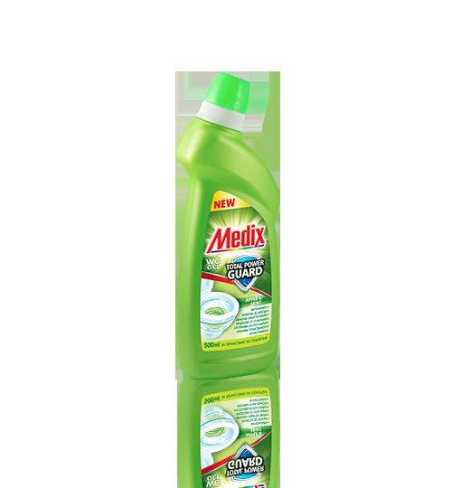 MEDIX WC GEL TOTAL POWER GUARD Apple & Mint - Ябълка и Мента (светлозелен)